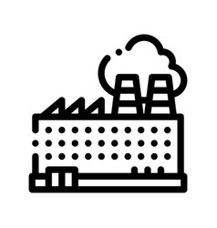 Industrial plant building thin line icon vector