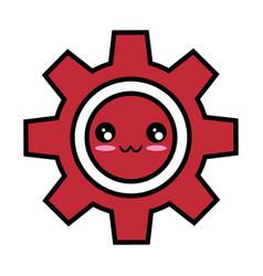 Kawaii gear icon vector