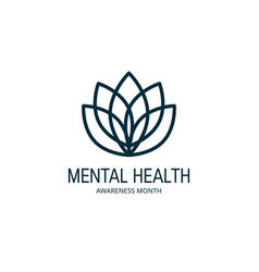 Mental health concept in simple flat style vector