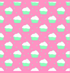 Mint cakes pattern vector