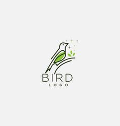 Modern bird logo vector