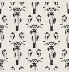 Motorcycles and moto seamless pattern vector