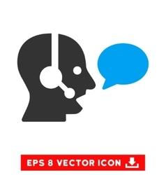 Operator Message Balloon Eps Icon vector