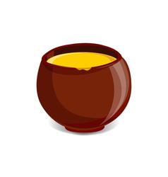 Pot full of honey vector