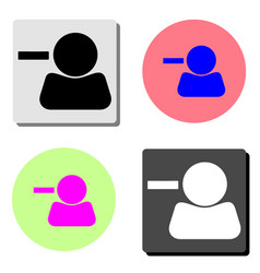 remove contact flat icon vector image