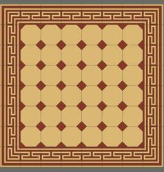Retro seamless pattern encaustic classic tiles vector