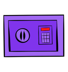safe icon cartoon vector image