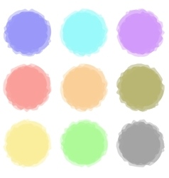 Set of Round Colored Banners Transtarent Shares vector