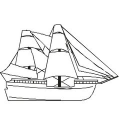 ship isolated on white background a commercial vector image