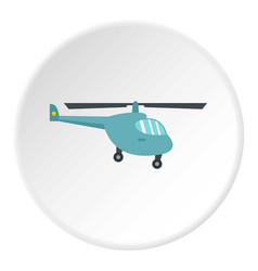 Small helicopter icon circle vector