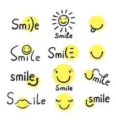 Smile Inspirational quote vector