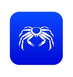 Snow crab icon digital blue vector