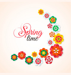 Spring Time Spring multicolored cutout paper vector image