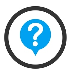 Status flat blue and gray colors rounded vector