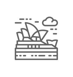 sydney opera house australia landmark line icon vector image