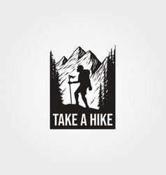 Take a hike t shirt design vector