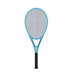 Tennis racquet sport game equipment flat icon vector