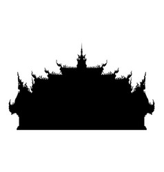 thai ancient buddhist temple silhouette vector image