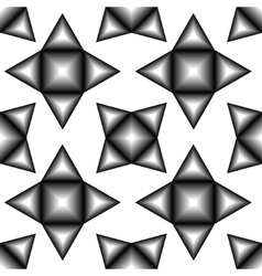 The pattern of black and white tetragonal stars vector image