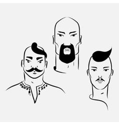 Three characters of Ukrainian Cossacks vector image