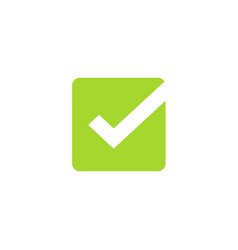tick icon symbol green square checkmark vector image