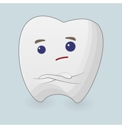 Tooth with folding arms vector