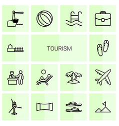 tourism icons vector image