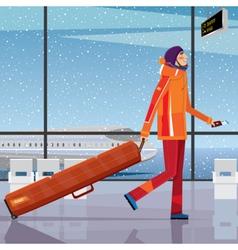 Trip to the ski resort vector