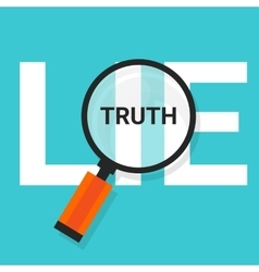 truth lie symbol text magnify magnifying find true vector image