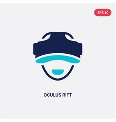 two color oculus rift icon from artificial vector image