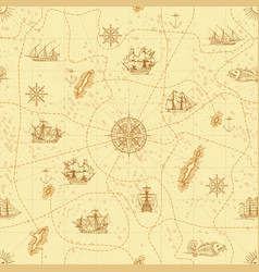 vintage seamless background on theme travel vector image