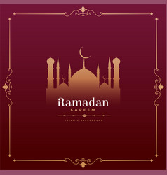 vintage style ramadan kareem festival design with vector image
