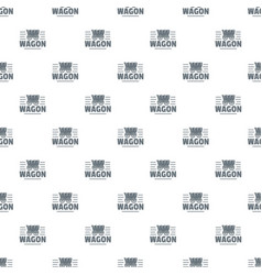 wagon pattern seamless vector image