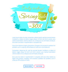 web poster spring sale -30 off advertisement label vector image