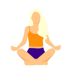 woman meditating concept vector image