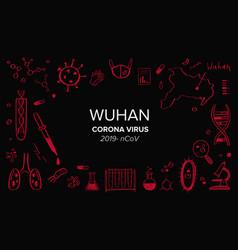 wuhan coronavirus 2019 hand drawn vector image