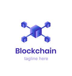 blockchain logo template finance business vector image