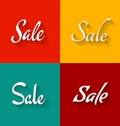 Sale text logo set Script elegant style fonts vector image vector image