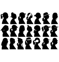 women profiles vector image