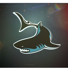 Angry shark vector