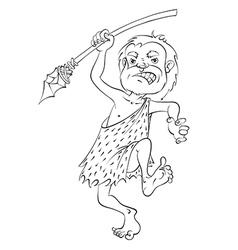 cartoon caveman vector image