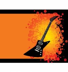 guitar grunge vector image vector image