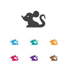 Of zoology symbol on mouse vector