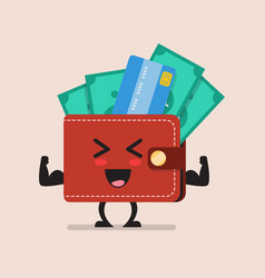 strong wallet character vector image