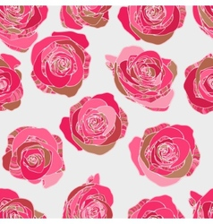 Traditional classic rose seamless pattern vector image