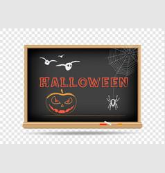blackboard halloween holidays vector image vector image
