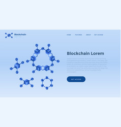 blockchain background template finance and vector image