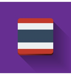 Button with flag of Thailand vector image vector image