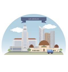 Los Angeles vector image