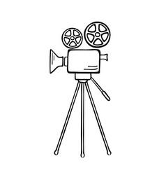 movie camera sketch vector image